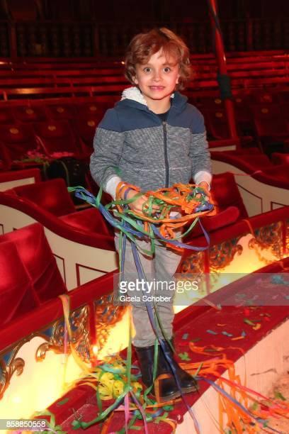 David Verhoeven son of Simon Verhoeven during the premiere of the Circus Roncalli '40 Jahre Reise zum Regenbogen' on October 7 2017 in Munich Germany