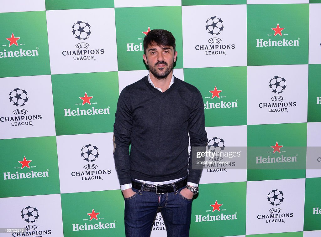 <a gi-track='captionPersonalityLinkClicked' href=/galleries/search?phrase=David+Villa&family=editorial&specificpeople=467566 ng-click='$event.stopPropagation()'>David Villa</a> attends the VIP launch party for the UEFA Champions League Trophy Tour Presented by Heineken at Skylight Modern on March 18, 2015 in New York City.