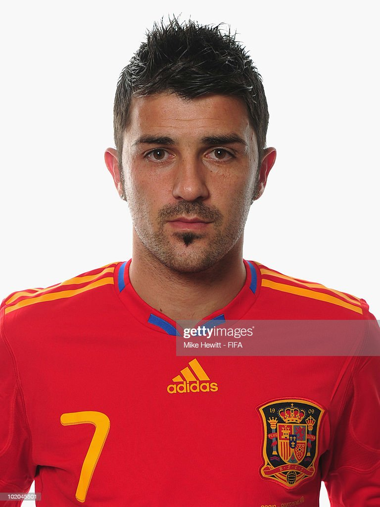 <a gi-track='captionPersonalityLinkClicked' href=/galleries/search?phrase=David+Villa&family=editorial&specificpeople=467566 ng-click='$event.stopPropagation()'>David Villa</a> of Spain poses during the official Fifa World Cup 2010 portrait session on June 13, 2010 in Potchefstroom, South Africa.