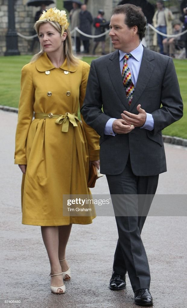 David Viscount Linley and Serena Viscountess Linley (Lord & Lady Linley) at St George's Chapel Windsor Castle for Thanksgiving Service for the Queen's 80th Birthday on Apr23, 2006 in Windsor, England.