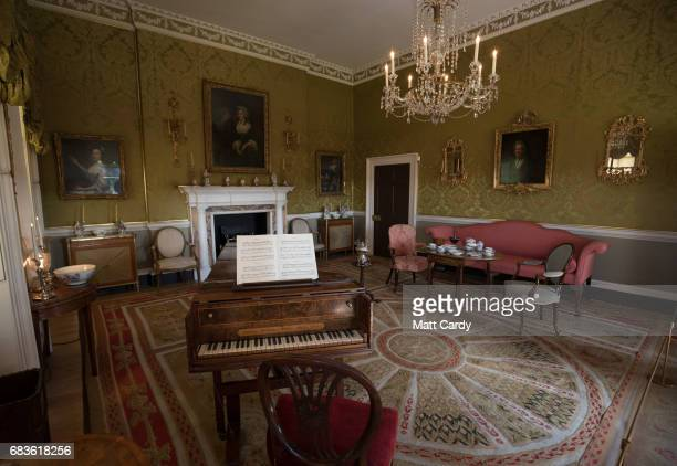 David Visitors look at the Georgian Withdrawing room preserved inside No1 Royal Crescent the Bath Preservation Trust's museum on April 19 2017 in...