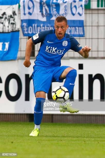 David Vrzogic of Meppen during the 3 Liga match between SV Meppen and 1 FC Magdeburg at Haensch Arena on August 2 2017 in Meppen Germany
