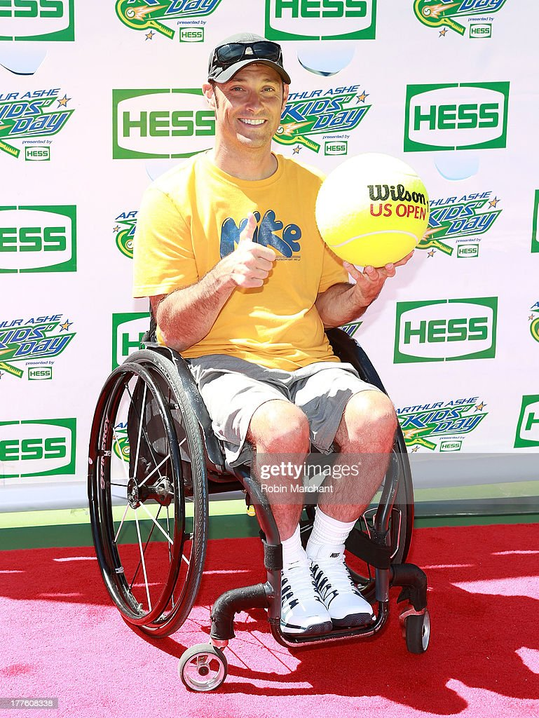 <a gi-track='captionPersonalityLinkClicked' href=/galleries/search?phrase=David+Wagner+-+Wheelchair+Tennis+Player&family=editorial&specificpeople=221071 ng-click='$event.stopPropagation()'>David Wagner</a> attends the 2013 Arthur Ashe Kids Day at USTA Billie Jean King National Tennis Center on August 24, 2013 in the Queens borough of New York City.