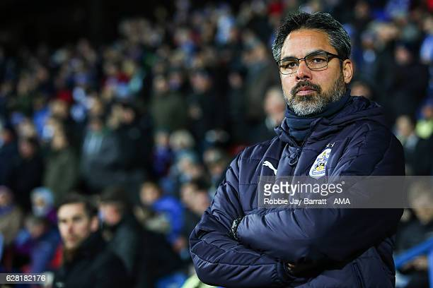 David Wagner head coach / manager of Huddersfield Town during the Sky Bet Championship match between Huddersfield Town and Wigan Athletic at John...