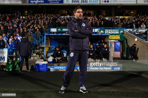 David Wagner head coach / manager of Huddersfield Town during the Sky Bet Championship match between Huddersfield Town and Aston Villa at John...