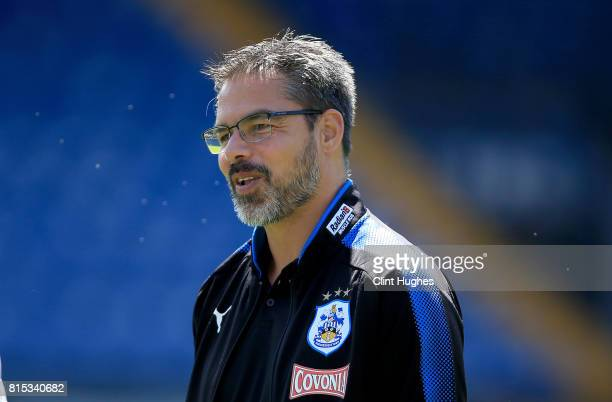 David Wagner manager of Huddersfield Town during the pre season friendly game at Gigg Lane on July 16 2017 in Bury England