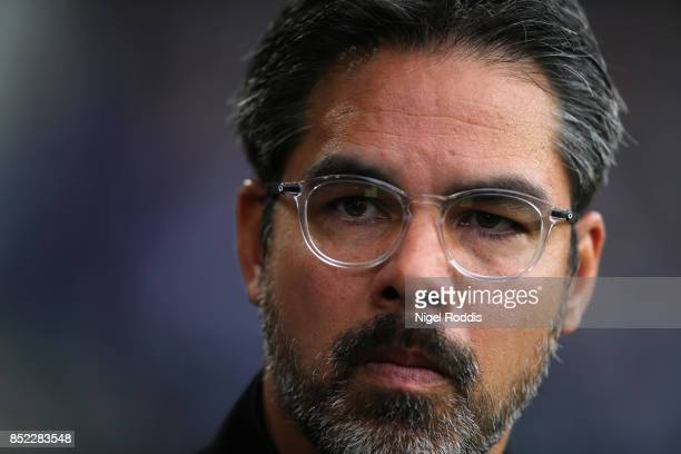 David Wagner Manager of Huddersfield Town looks on prior to the Premier League match between Burnley and Huddersfield Town at Turf Moor on September...