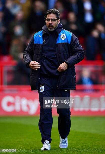 David Wagner Manager of Huddersfield Town looks on prior to the Sky Bet Championship match between Bristol City and Huddersfield Town at Ashton Gate...