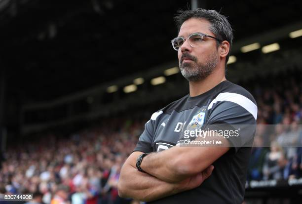 David Wagner Manager of Huddersield Town looks on after the Premier League match between Crystal Palace and Huddersfield Town at Selhurst Park on...