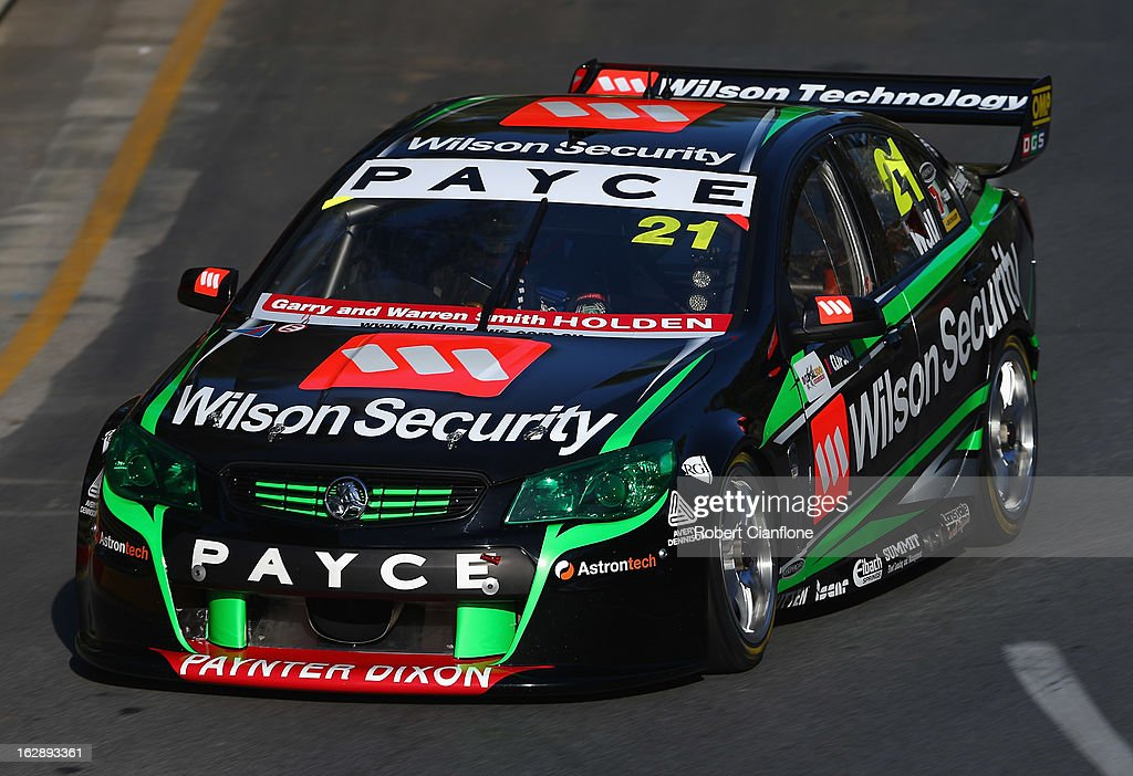 David Wall drives the #21 Wilson Security Racing Holden during practice for the Clipsal 500, which is round one of the V8 Supercar Championship Series, at the Adelaide Street Circuit on March 1, 2013 in Adelaide, Australia.