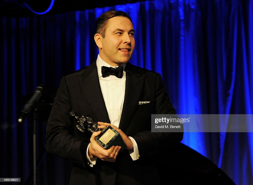 David Walliams accepts the Award For Comedy at the 59th London Evening Standard Theatre Awards at The Savoy Hotel on November 17, 2013 in London, England.