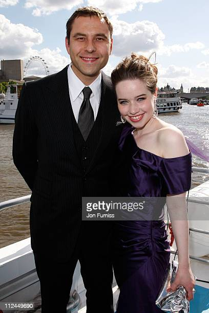 COVERAGE** David Walliams and Anna Popplewell arrives by boat to the UK Premiere of The Chronicles of Narnia Prince Caspian at the O2 Dome in North...
