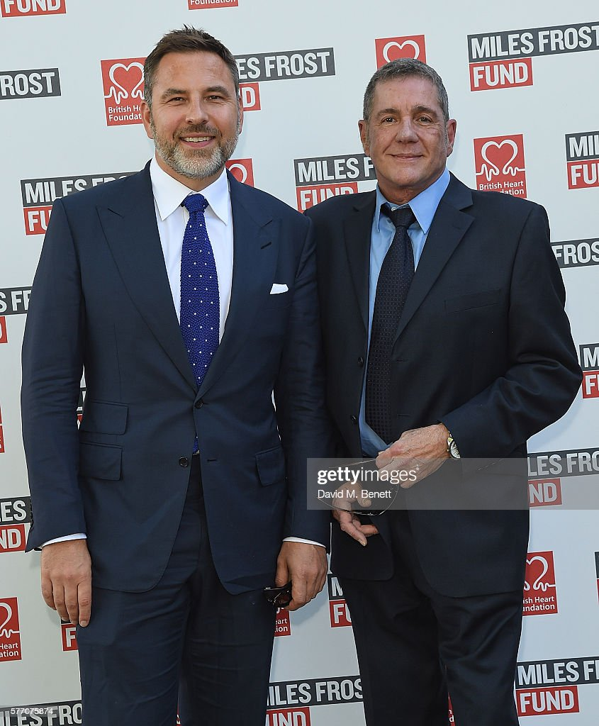 David Walliams and Dale Winton attend The Frost family final Summer Party to raise money for the Miles Frost Fund in partnership with the British Heart Foundation on July 18, 2016 in London, England.
