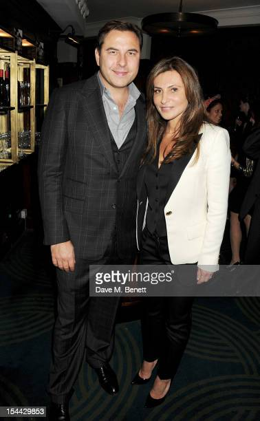 David Walliams and Ella Krasner attend the launch of The Krasner Fund for the BFI at The Ivy on October 19 2012 in London England