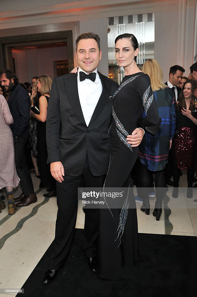 David Walliams and Erin o 'Connor attend the Harper's Bazaar Woman of the Year Awards at Claridge's Hotel on October 31, 2012 in London, England.