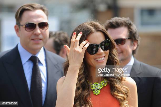 David Walliams and Kate Beckinsale during a visit to College House Junior School where she unveiled a plaque in memory of her late father Richard...