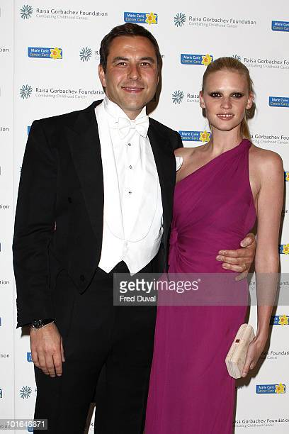 David Walliams and Lara Stone attend the annual Raisa Gorbachev Foundation Party at Stud House Hampton Court on June 5 2010 in London England
