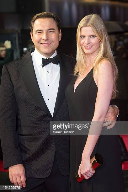 David Walliams and Lara Stone attend the Closing Film Premiere for 'Great Expectations' during the 56th BFI London Film Festival at Odeon West End on...