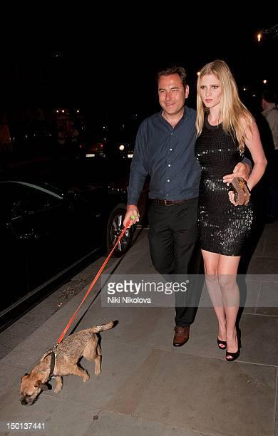David Walliams and Lara Stone sighting on August 10 2012 in London England