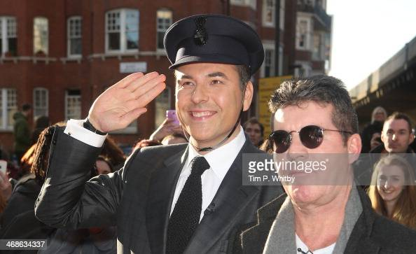 David Walliams and Simon Cowell attend the London Auditions of Britain's Got Talent at Hammersmith Apollo on February 11 2014 in London England