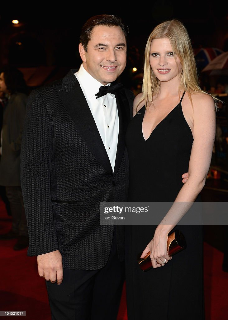 David Walliams and wife Lara Stone attend the Closing Night Gala of 'Great Expectations' during the 56th BFI London Film Festival at Odeon Leicester Square on October 21, 2012 in London, England.