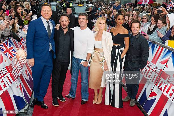 David Walliams Ant McPartlin Simon Cowell Amanda Holden Alesha Dixon and Declan Donnelly attend Britain's Got Talent London Auditions at London...