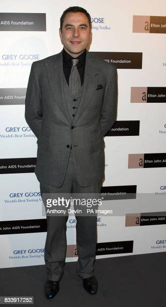 David Walliams arrives at the Grey Goose Vodka and The Elton John AIDS Foundation VIP launch party One Piazza Covent Garden London