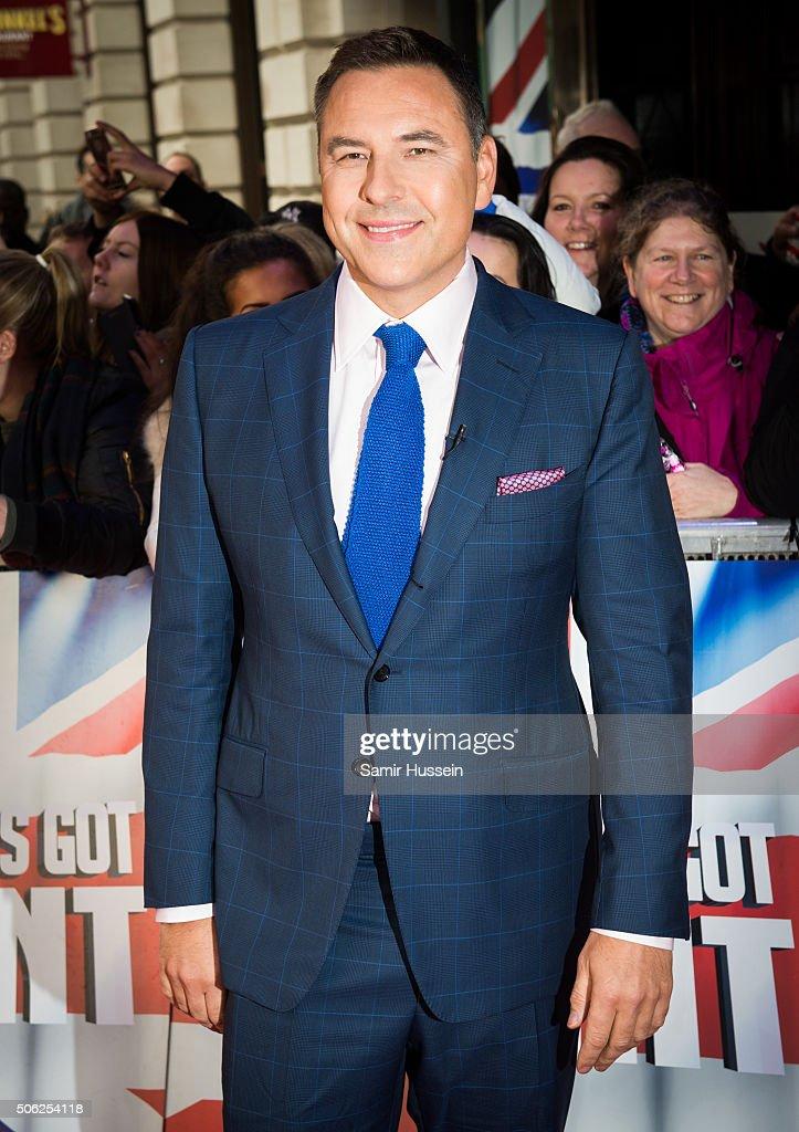 <a gi-track='captionPersonalityLinkClicked' href=/galleries/search?phrase=David+Walliams&family=editorial&specificpeople=203020 ng-click='$event.stopPropagation()'>David Walliams</a> arrives for Britain's Got Talent Auditions on January 22, 2016 in London, England.