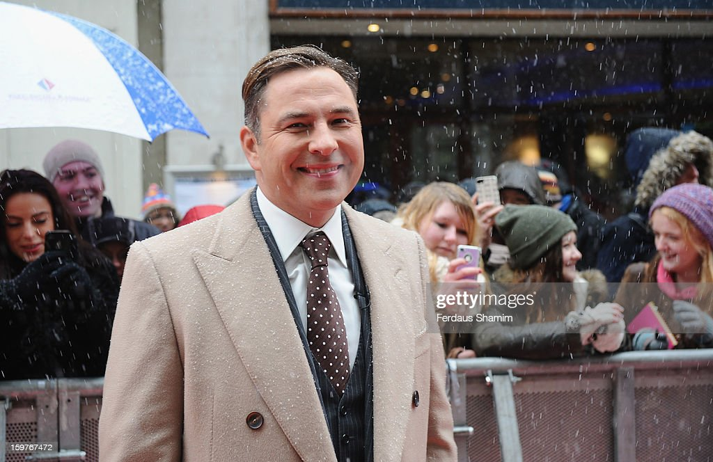 <a gi-track='captionPersonalityLinkClicked' href=/galleries/search?phrase=David+Walliams&family=editorial&specificpeople=203020 ng-click='$event.stopPropagation()'>David Walliams</a> arrives for the London judges auditions for 'Britain's Got Talent' at London Palladium on January 20, 2013 in London, England.