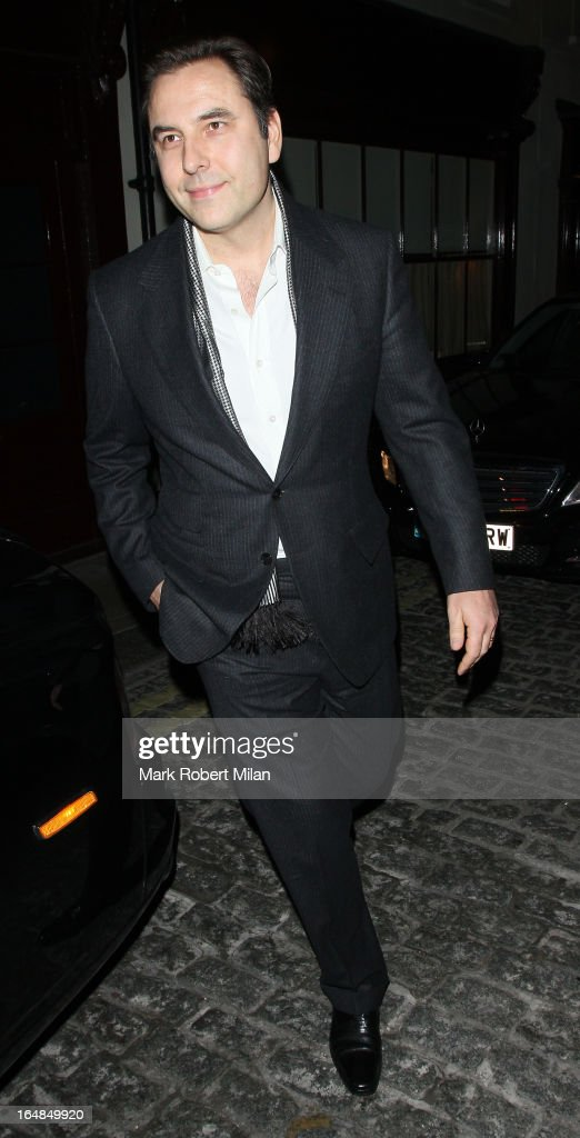 David Walliams at Lou Lou's Club on March 28, 2013 in London, England.