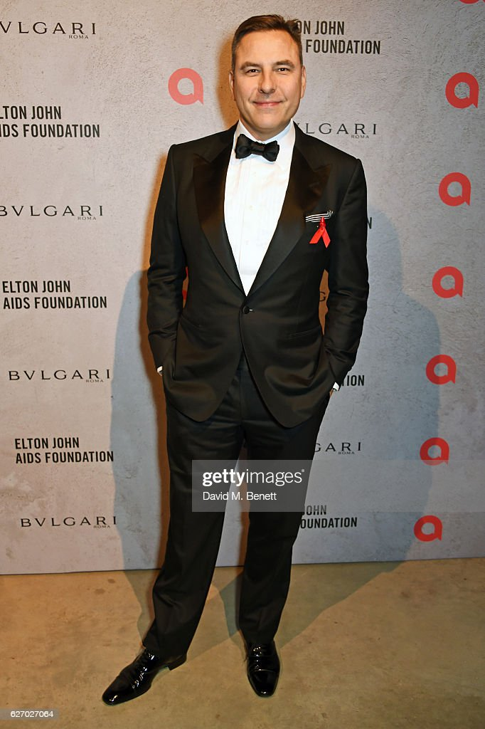 David Walliams attends 'The Radical Eye' dinner and private view for the Elton John Aids Foundation in association with Bulgari on December 1, 2016 in London, England.