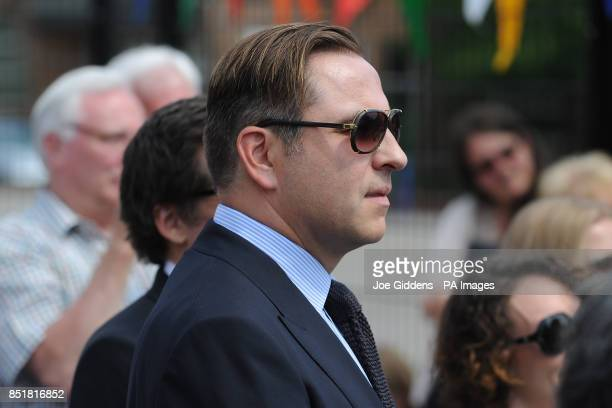 David Walliams during a visit to College House Junior School where the Hollywood actress Kate Beckinsale unveiled a plaque in memory of her late...