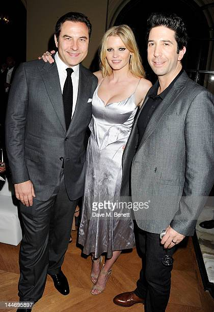 David Walliams Lara Stone and David Schwimmer attend as The IFP Calvin Klein Collection euphoria Calvin Klein celebrate Women In Film during the 65th...