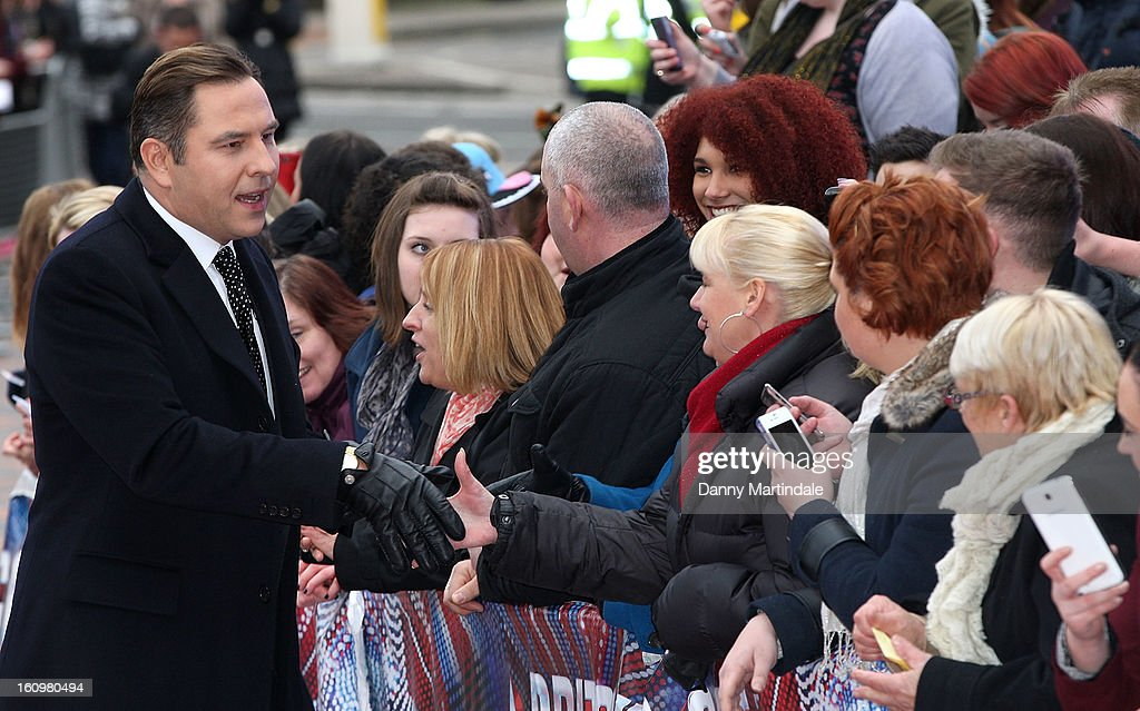 <a gi-track='captionPersonalityLinkClicked' href=/galleries/search?phrase=David+Walliams&family=editorial&specificpeople=203020 ng-click='$event.stopPropagation()'>David Walliams</a> meets fans at the Birmingham auditions of Britain's Got Talent at The ICC on February 8, 2013 in Birmingham, England.