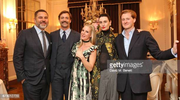 David Walliams Patrick Grant Alice NaylorLeyland Erin O'Connor and Tom Erin O'Connor attend a VIP dinner celebrating Mrs Alice for French Sole at The...