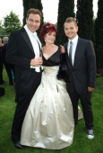 David Walliams Sharon Osbourne wearing Chopard and Jack Osbourne