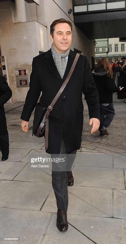 David Walliams sighting on March 14, 2013 in London, England.