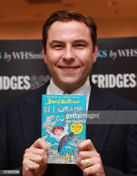 David Walliams signs copies of his book 'Billionaire Boy' at Selfridges on December 16 2010 in London England