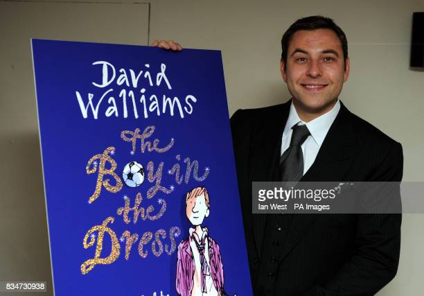 David Walliams unveils the cover of his new book 'The Boy In The Dress' at Soho House central London