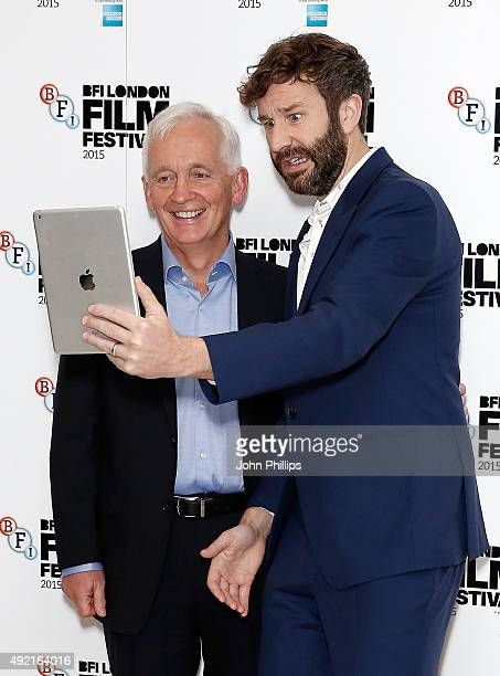 David Walsh and Chris O'Dowd attend the 'The Program' screening during the BFI London Film Festival at Vue Leicester Square on October 10 2015 in...