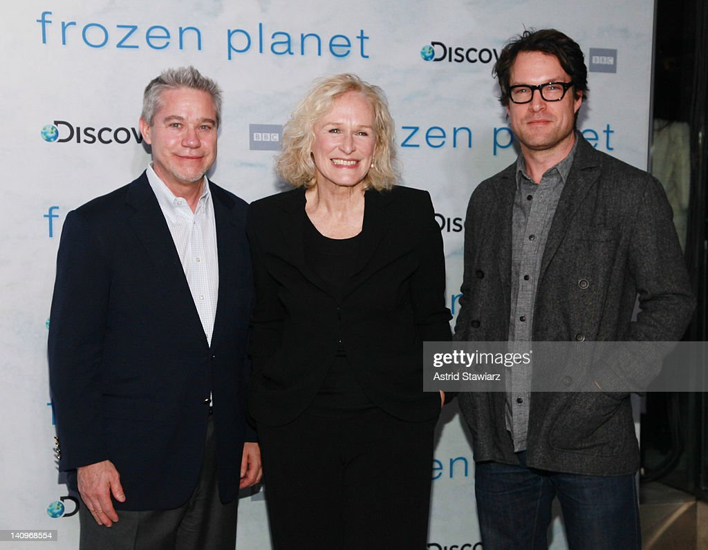 David Wargo, <a gi-track='captionPersonalityLinkClicked' href=/galleries/search?phrase=Glenn+Close&family=editorial&specificpeople=201870 ng-click='$event.stopPropagation()'>Glenn Close</a> and <a gi-track='captionPersonalityLinkClicked' href=/galleries/search?phrase=John+Light&family=editorial&specificpeople=845917 ng-click='$event.stopPropagation()'>John Light</a> attend the 'Frozen Planet' premiere at Alice Tully Hall, Lincoln Center on March 8, 2012 in New York City.