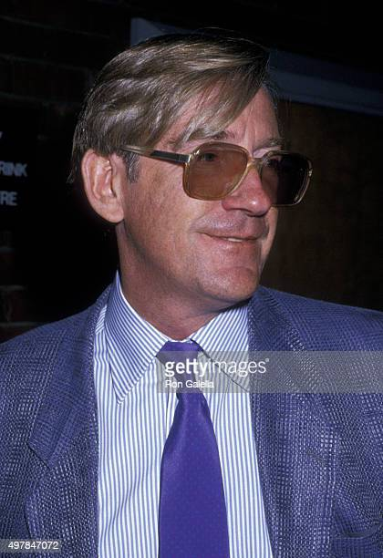 David Warner attends John Huston Memorial Service on September 12 1987 at the Directors Guild Theater in Hollywood California