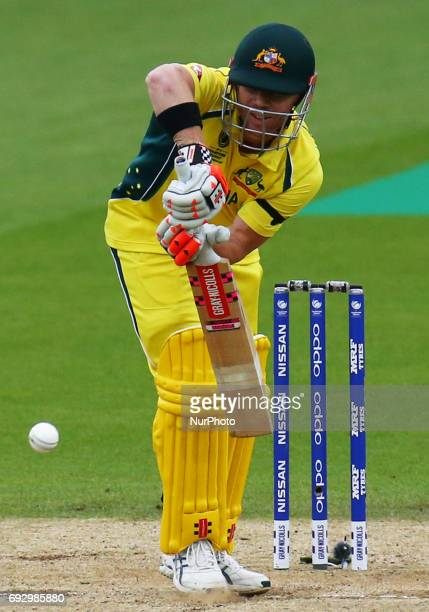 David Warner of Australia during the ICC Champions Trophy match Group A between Australia and Bangladesh at The Oval in London on June 05 2017