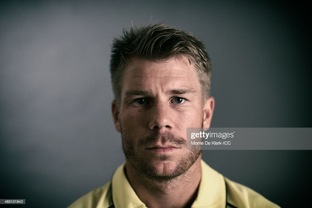 <a gi-track='captionPersonalityLinkClicked' href=/galleries/search?phrase=David+Warner+-+Cricketspelare&family=editorial&specificpeople=4262255 ng-click='$event.stopPropagation()'>David Warner</a> of Australia poses during the Australia 2015 ICC Cricket World Cup Headshots Session at the Intercontinental on February 7, 2015 in Adelaide, Australia.