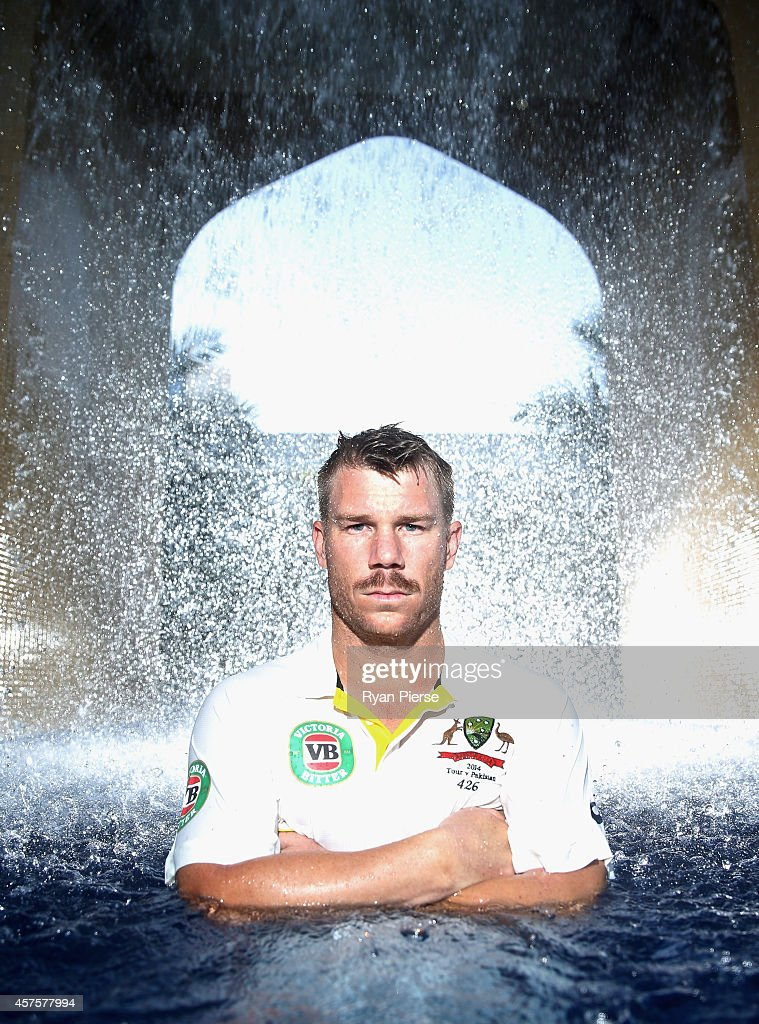 <a gi-track='captionPersonalityLinkClicked' href=/galleries/search?phrase=David+Warner+-+Cricketspelare&family=editorial&specificpeople=4262255 ng-click='$event.stopPropagation()'>David Warner</a> of Australia poses on October 21, 2014 in Dubai, United Arab Emirates.