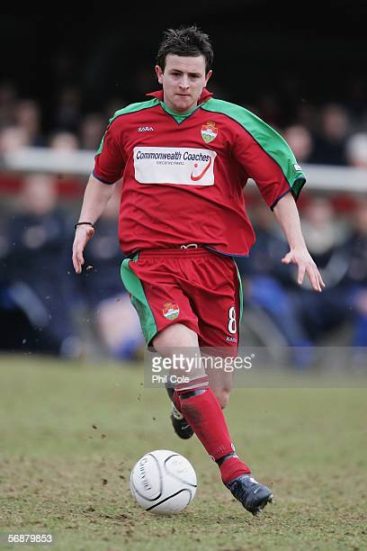 David Warner of Windsor Eton during the Ryman League Premier Division match between AFC Wimbledon and Windsor Eton FC at Kingmeadow Stadium on...