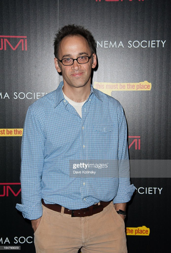 David Wayne attends The Weinstein Company With The Cinema Society And Tumi Host A Screening Of 'This Must Be the Place' at Tribeca Grand Hotel on October 25, 2012 in New York City.