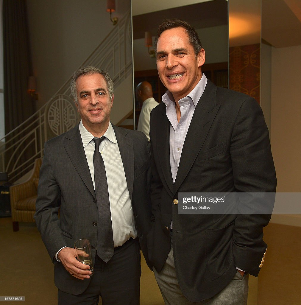 David Webb's Mark Emanuel (L) and Jeff Klein attend the David Webb Dinner in honor of LAXART at Sunset Tower on May 1, 2013 in West Hollywood, California.