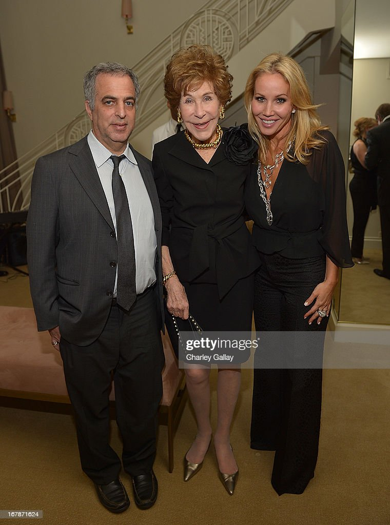 David Webb's Mark Emanuel, Betsy Bloomingdale and Brooke Davenport attend the David Webb Dinner in honor of LAXART at Sunset Tower on May 1, 2013 in West Hollywood, California.