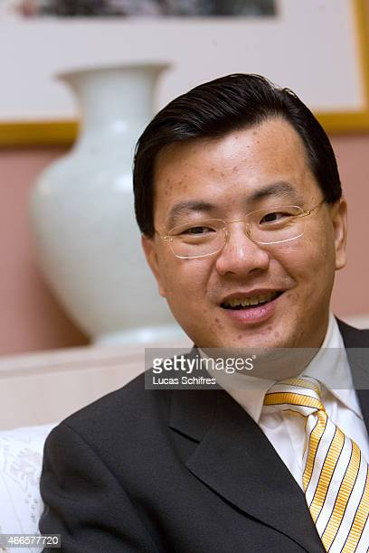 David Wei Chief Executive Officer of Alibabacom speaks during an interview on the sides of Alifest on September 16 2007 in Hangzhou Zhejiang province...